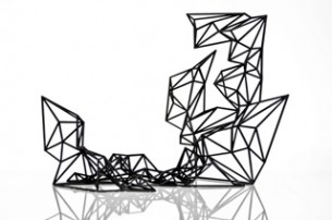 Mutation #1 est une sculpture issue d'un procédé de création et de fabrication numériques, obtenue par impression 3D.